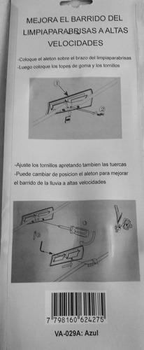 aleton deflector limpiaparabrisas aluminio juego x2