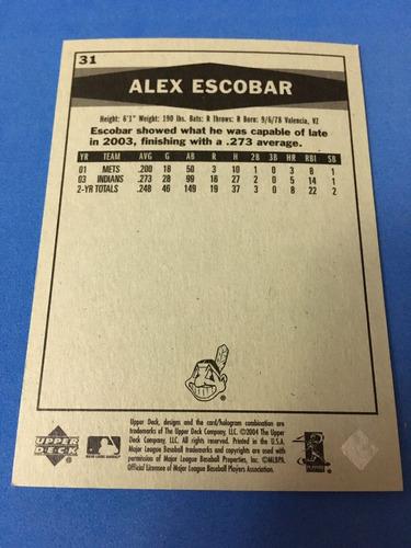 alex escobar upper deck vintage 2004 31