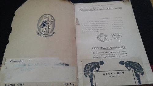 alex mir- catalogo palacio magia moderna 1946 (coleccion)