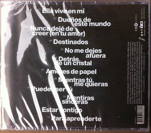 alex ubago. mentiras sinceras. cd original, nuevo