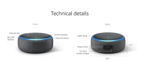 alexa amazon echo dot tercera gen entrega ya