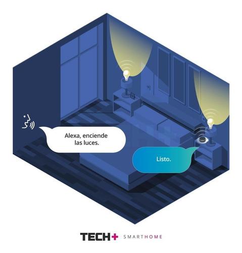 alexa echo dot parlante inteligente + 2 focos smart wifi