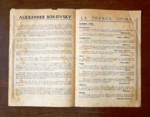 alexander borovsky piano conciert teatro municipal lima 1947