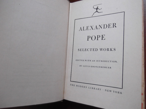 alexander pope selected works en ingles tapa dura