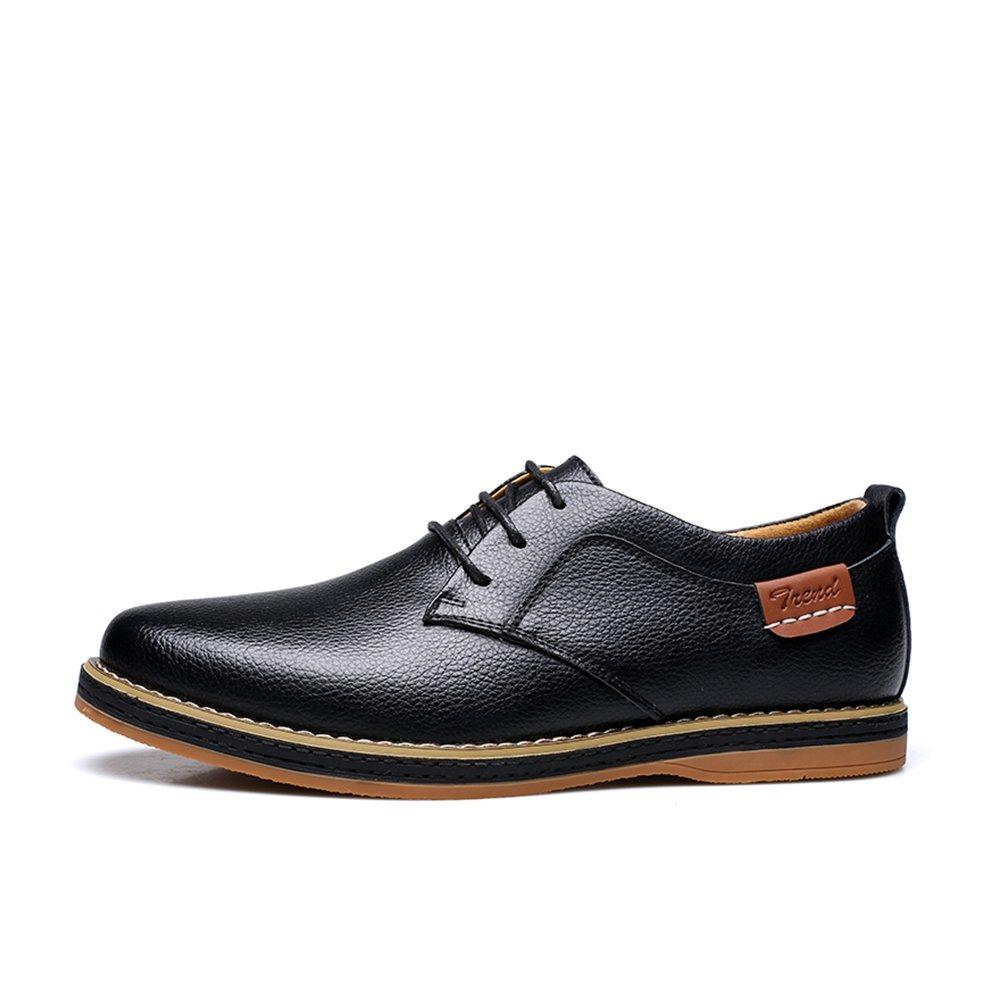 Alexis Oxfords Zapatos Men's Casual Cuero Leroy De Negro nP08Okw