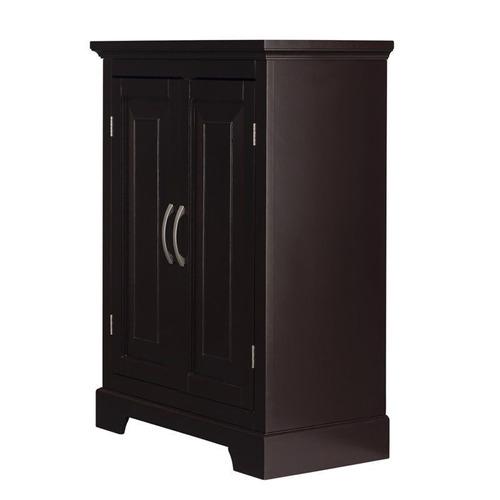 alfa dark espresso - gabinete para piso de doble puerta par
