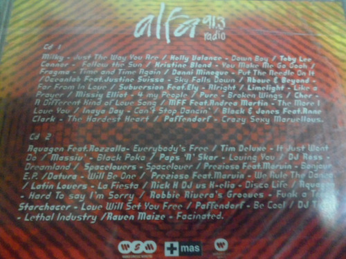 alfa radio 91.3 - cd album doble 2002
