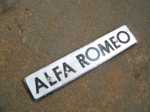 alfa romeo 2300 - emblema alfa romeo de aluminio da tampa