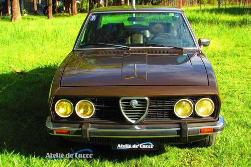 alfa romeo 2300ti 1977 mesmo dono desde 1982 - placa preta