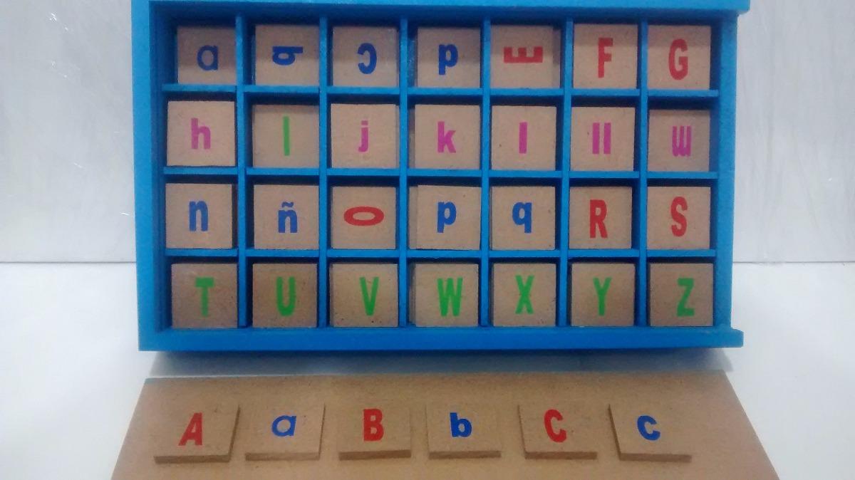 Alfabeto abcedario letras en madera lectura juego did ctico en mercado libre - Casa letras madera ...