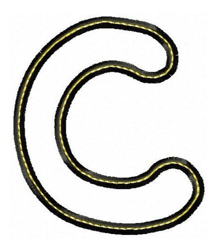alfabeto aplique black maiúsculo - col. de matriz de bordado
