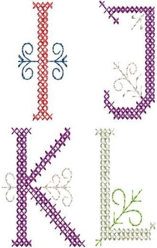 alfabeto big ponto cruz - 52 matrizes de bordados  via email