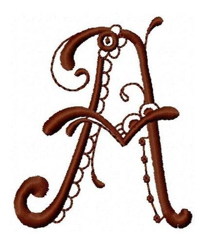 alfabeto blumen 01 - coleção de matriz de bordado