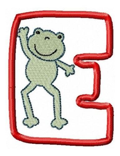 alfabeto figuries aplique 001 - coleção de matriz de bordado