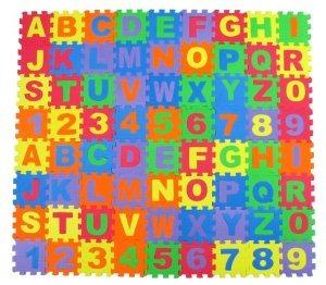 Alfabeto Letras Y N 250 Meros Espuma Puzzle Cuadrada Palabra