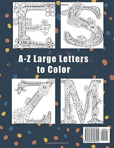 Alfabeto Libro Para Colorear Abc Az Letras Grandes Arte Flor