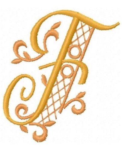 alfabeto luxo iniciais - coleção de matriz de bordado