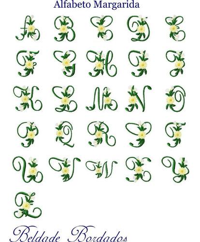 alfabeto margarida - coleção de matriz de bordado