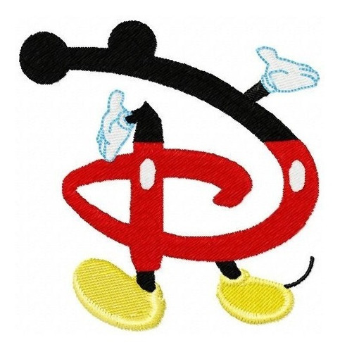 alfabeto mickey mouse - coleção de matriz de bordado