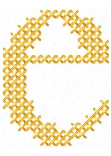 alfabeto minúsculo ponto cruz - coleção de matriz de bordado