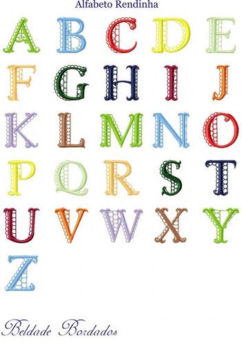 alfabeto rendinha - coleção de matriz de bordado