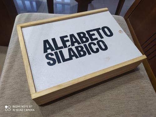 alfabeto silábico em mdf - caixa com 384 peças