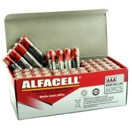 alfacell  pilha aaa caixa 60 unid, frete 50% mais barato  !