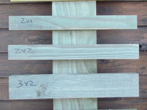 alfajía (clavadera) cca 2x1 pulg x 3,30 mt madera tratada