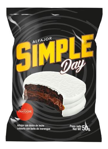 alfajor fantoche simple day dulce de leche 50g caja x12 unid
