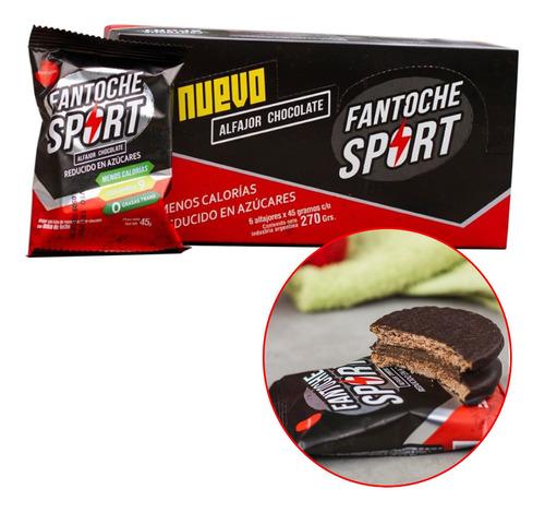 alfajor fantoche sport 45g omega 9 bajo calorias caja x6 6u