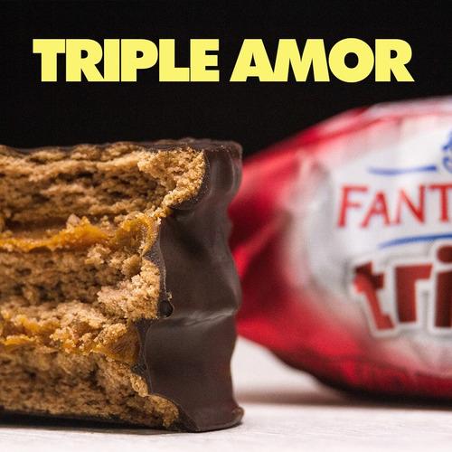 alfajor fantoche triple chocolate dulce de leche caja x12