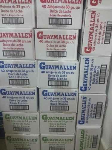 alfajor guaymallen por caja de 40 unidades !!