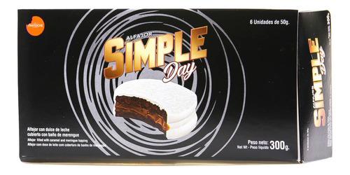 alfajor simple day blanco caja x6 unidades 300g fantoche