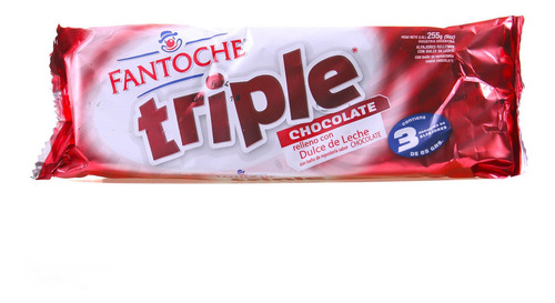 alfajor triple chocolate blister x3 bandeja 255g fantoche