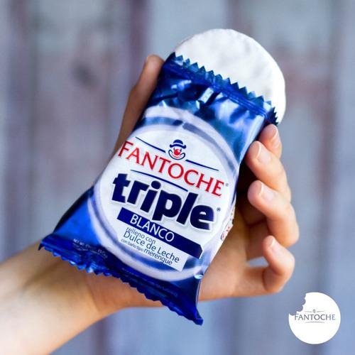 alfajor triple fantoche blanco dulce de leche 85g caja x12