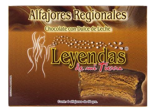 alfajores regionales de chocolate y dulce de leche x6