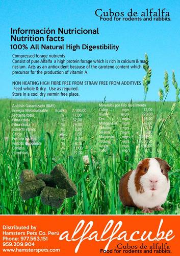 alfalfa king x 300gr más 1kg de cubos alfala para conejos
