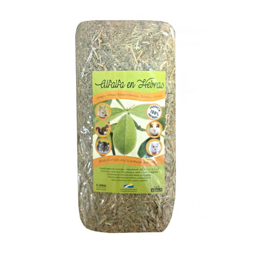 alfalfa prensada natural -(650grs aprox) land rabbit-