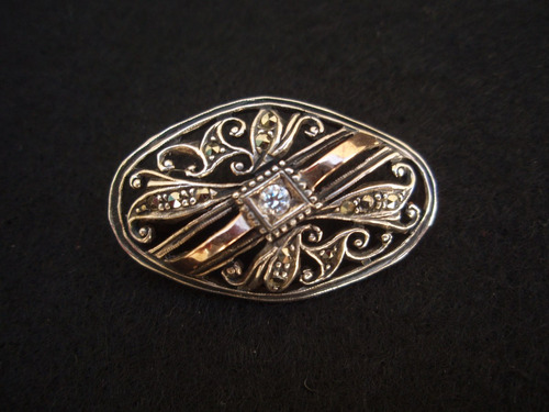alfinete de peito em prata e ouro (9)