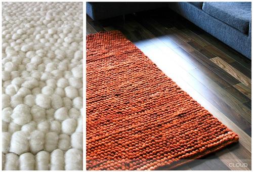 alfombra 100% lana patagonica hecha a mano a medida