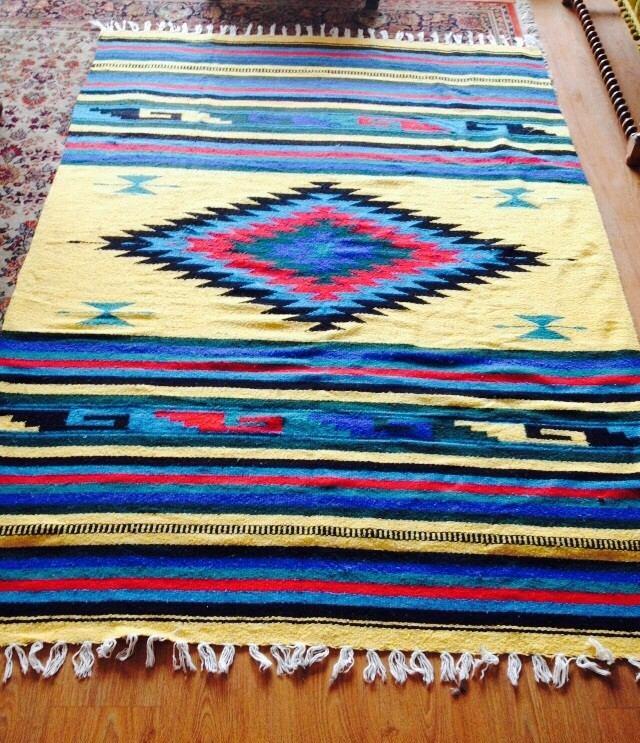 Alfombra 100 lana telar artesan a mexicana 160 x 230 for Alfombras persas usadas precios