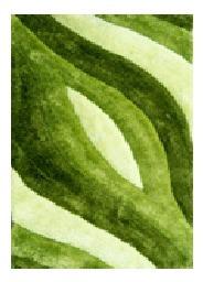 alfombra 100% poliester 140x200cm verde