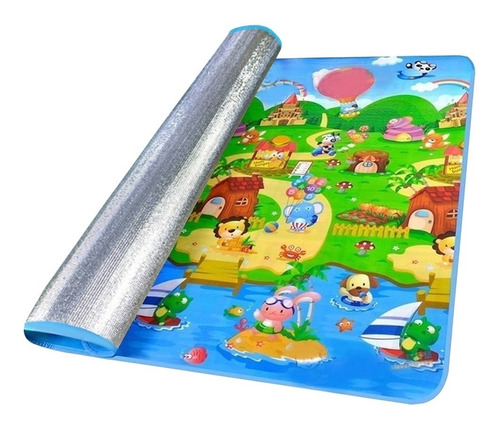 alfombra antigolpes cubre piso niño bebe 1.80x1.20 mts