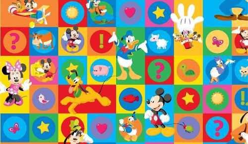 alfombra antigolpes para bebes disney mickey cars princesas