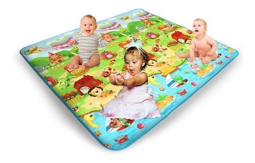 alfombra antigolpes para bebes gateo funny smile 200x180cm