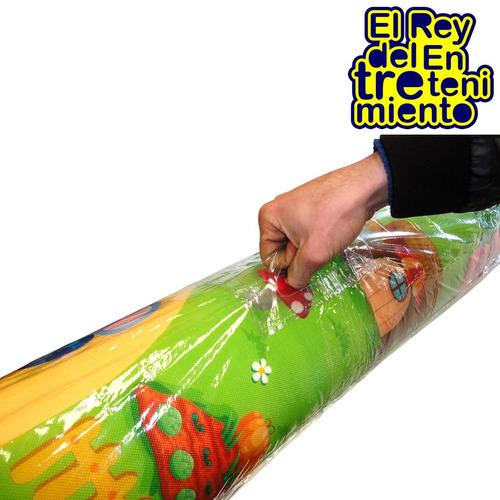 alfombra antigolpes para bebes niños 2.00 x 1.80mts c/ bolso