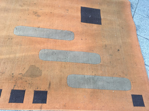 alfombra antigua año 60