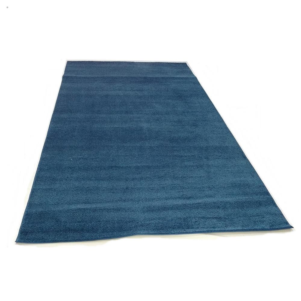 Alfombra Azul Delgada Pasillo Con Ribete 1 X 4 Metros