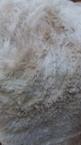 alfombra beige con matices pelo largo 2x2.40mts