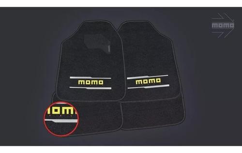 alfombra boucle para auto momo italy cm005bg negro y gris